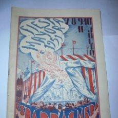 Coleccionismo: MAGNIFICO ANTIGUO PROGRAMA DE LA FIESTA MAYOR DE ESPARRAGUERA DEL 1951. Lote 277663168