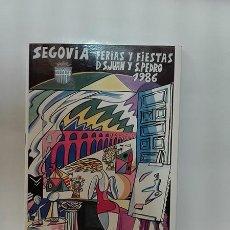 Coleccionismo: 1986. SEGOVIA. PROGRAMA DE FIESTAS. SAN JUAN Y SAN PEDRO.. Lote 277663748