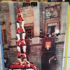 Coleccionismo: LAMINA CASTELLERS DE BARCELONA. Lote 279405813