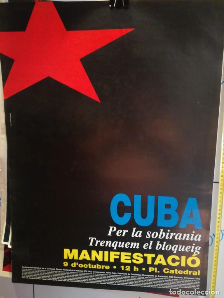 LAMINA MANIFESTACIÓ CUBA PER LA SOBIRANIA (Coleccionismo - Laminas, Programas y Otros Documentos)