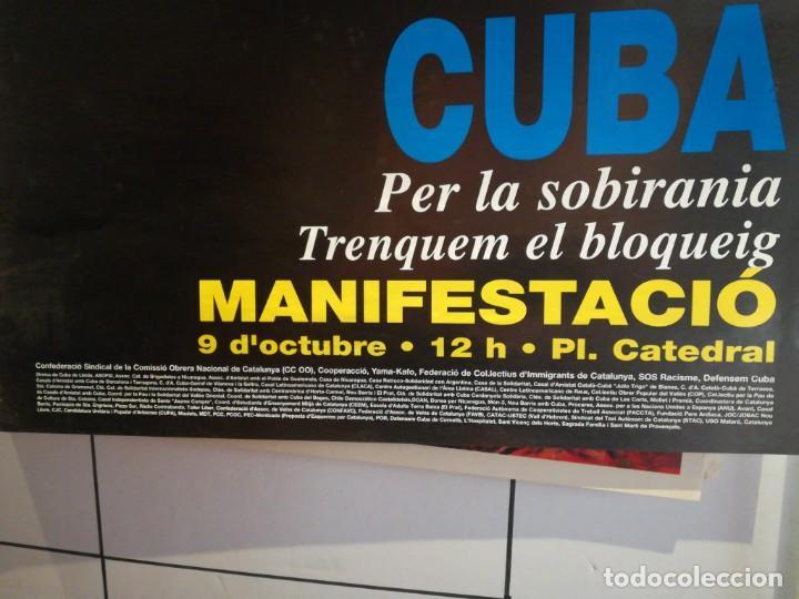 Coleccionismo: Lamina Manifestació Cuba Per la sobirania - Foto 2 - 279406088