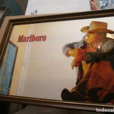 Coleccionismo: ANTIGUO ESPEJO CON MARCO PUBLICIDAD MARLBORO NUEVO EN SU CAJA. Lote 279568163