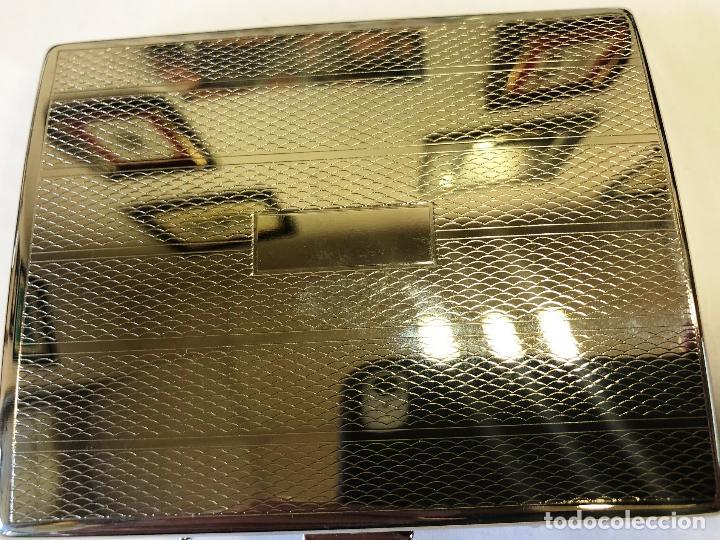 Coleccionismo: Pitillera TG plateada para diez cigarrillos. - Foto 3 - 280160978