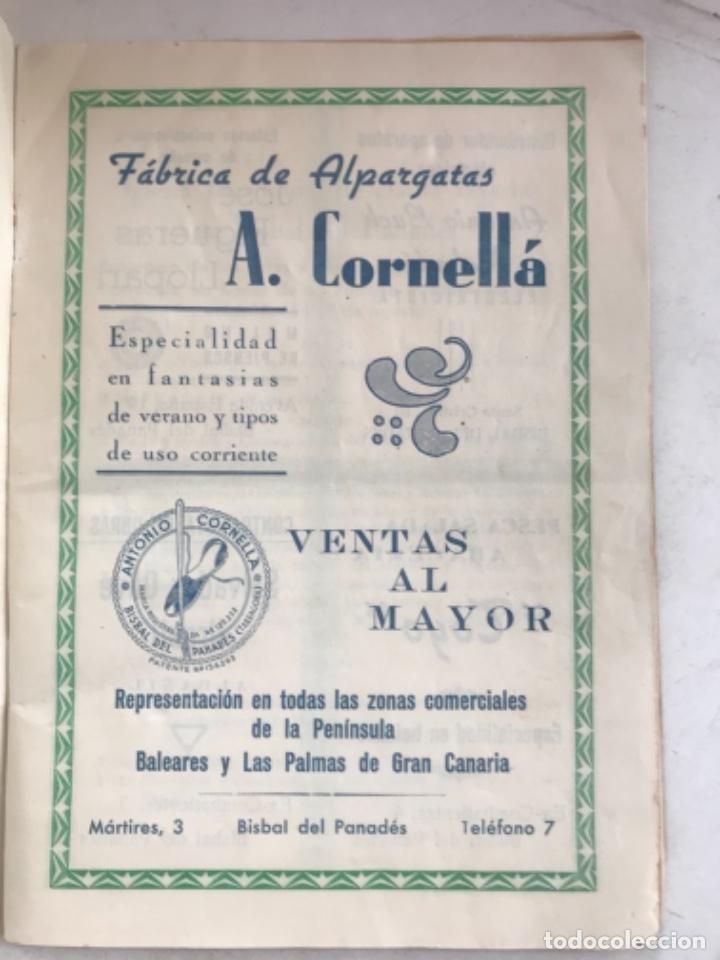 Coleccionismo: PROGRAMA DE FIESTA MAYOR DE LA BISBAL DEL PENEDÈS 1946. - Foto 2 - 280641643