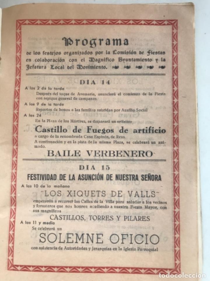 Coleccionismo: PROGRAMA DE FIESTA MAYOR DE LA BISBAL DEL PENEDÈS 1946. - Foto 5 - 280641643