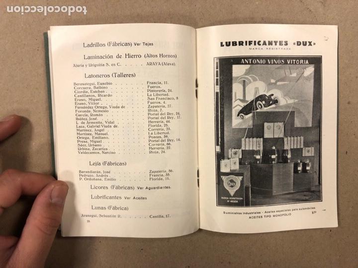Coleccionismo: EXPOSICIÓN PERMANENTE INDUSTRIAS ALAVESAS. AÑOS 20. LIBRETO CON ÍNDICE PRODUCTORES ALAVESES - Foto 6 - 282563468