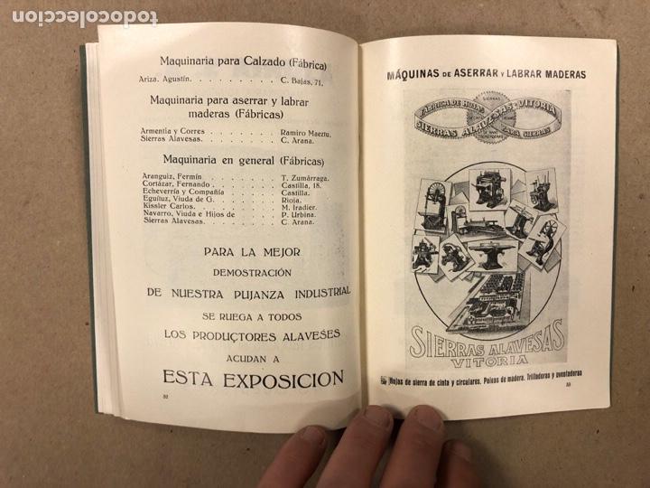 Coleccionismo: EXPOSICIÓN PERMANENTE INDUSTRIAS ALAVESAS. AÑOS 20. LIBRETO CON ÍNDICE PRODUCTORES ALAVESES - Foto 7 - 282563468