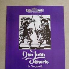 "Colecionismo: PROGRAMA ""DON JUAN TENORIO"". TEATRO ESPAÑOL. TEMPORADA 90/91. Lote 284790573"