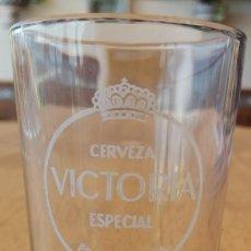 Coleccionismo: VASO CRISTAL PROPAGANDA CERVEZA VICTORIA. Lote 286456243