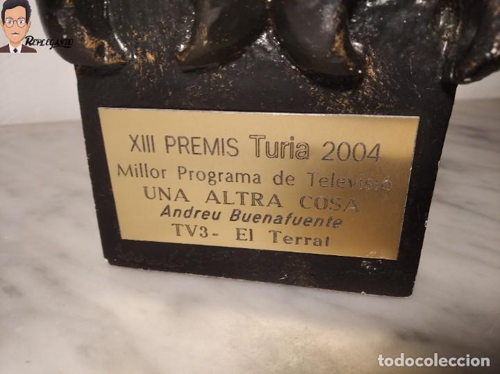Coleccionismo: PREMIO / TROFEO TURIA 2004 - ANDREU BUENAFUENTE - MEJOR PROGRAMA TV - UNA ALTRA COSA / TV3 / TERRAT - Foto 2 - 286501768