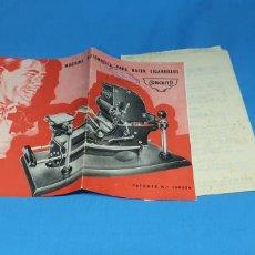 Coleccionismo: AANTIGUO FOLLETO INSTRUCCIONES PARA MAQUINA DE TABACO CONCHITA. Lote 286859283