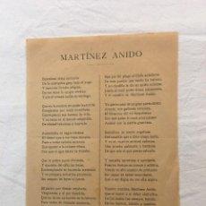 Coleccionismo: OCTAVILLA. BARCELONA. ODA POLÍTICA A MARTÍNEZ ANIDO POR M. BALARI. BARCELONA,1921.. Lote 30909876