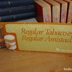 Coleccionismo: CARTON RIGIDO PUBLICITARIO TABACALERA ESPAÑOLA 41 X 15 CMS. Lote 286974798