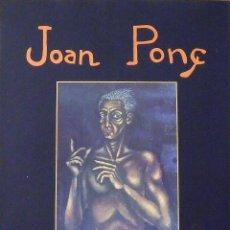 Coleccionismo: CARTEL EXPOSICIÓN JOAN PONÇ. 1989. GALERIA D'ART GÉNESIS. BARCELONA. 60X44 CM.. Lote 287018083