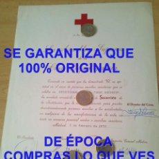 Coleccionismo: UNIVERSIDAD LABORAL JOSE ANTONIO CRUZ ROJA ESPAÑOLA DIPLOMA SOCORRISTA JUSTO GONZALEZ MARTIN U49. Lote 287578448