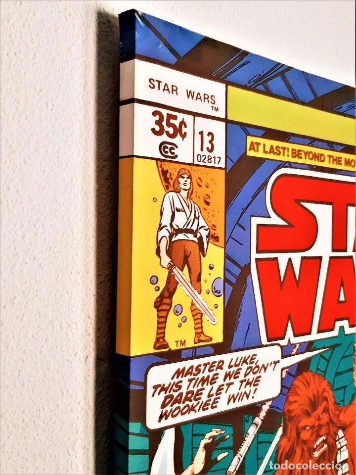 Coleccionismo: STAR WARS VINILO SOBRE ARMASON DE MADERA - 60 X 80.CM - Foto 3 - 287712953