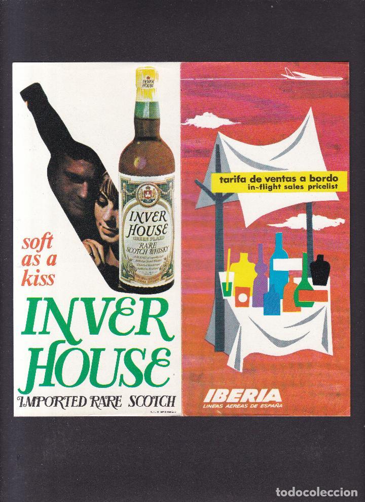 IBERIA - TARIFA VENTAS A BORDO / 1968 (Coleccionismo - Laminas, Programas y Otros Documentos)