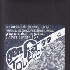 Coleccionismo: TOLEDO - FESTIVAL 1977. Lote 288167768
