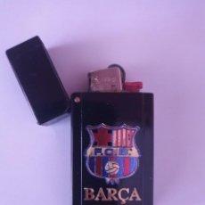 Coleccionismo: ESTUCHE PARA ENCENDEDOR, FCB BARCELONA. Lote 288364678