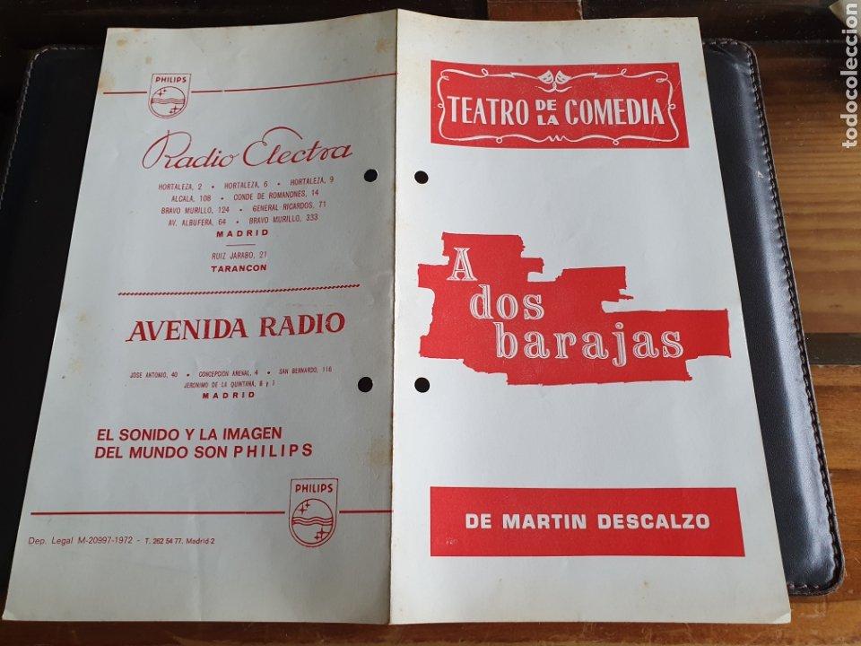 PROGRAMA TEATRO DE LA COMEDIA A DOS BARAJAS (Coleccionismo - Laminas, Programas y Otros Documentos)