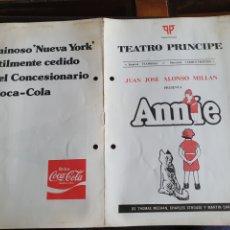 Coleccionismo: PROGRAMA TEATRO PRÍNCIPE ANNIE. Lote 288655083