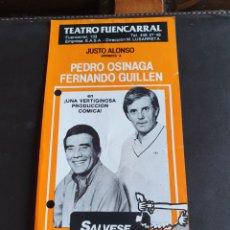 Coleccionismo: PROGRAMA TEATRO FUENCARRAL SÁLVESE QUIÉN PUEDA. Lote 288655248