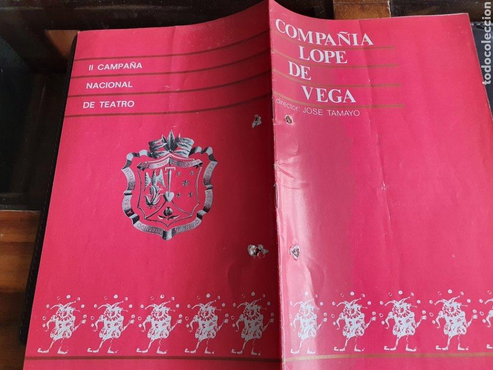 PROGRAMA TEATRO COMPAÑÍA LOPE DE VEGA II CAMPAÑA NACIONAL DE TEATRO (Coleccionismo - Laminas, Programas y Otros Documentos)