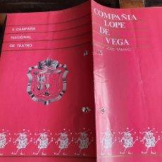 Coleccionismo: PROGRAMA TEATRO COMPAÑÍA LOPE DE VEGA II CAMPAÑA NACIONAL DE TEATRO. Lote 288655323