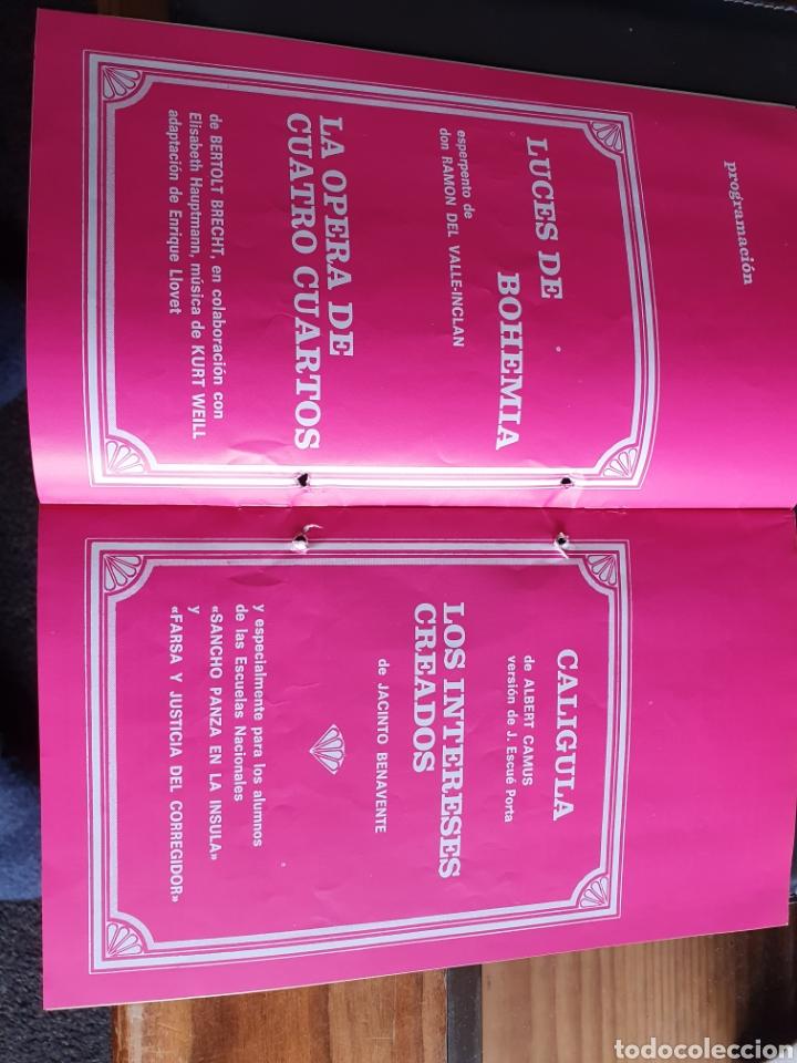 Coleccionismo: Programa teatro compañía lope de vega campaña nacional de teatro 1970 71 - Foto 2 - 288655388