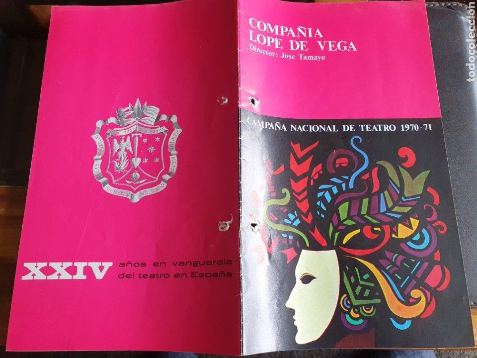 PROGRAMA TEATRO COMPAÑÍA LOPE DE VEGA CAMPAÑA NACIONAL DE TEATRO 1970 71 (Coleccionismo - Laminas, Programas y Otros Documentos)