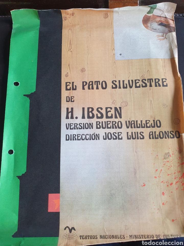 PROGRAMA TEATRO EL PATO SILVESTRE BUERO VALLEJO (Coleccionismo - Laminas, Programas y Otros Documentos)