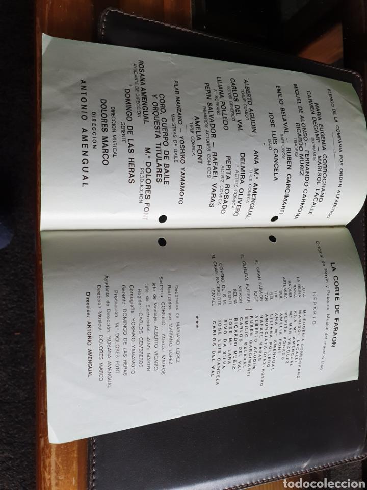 Coleccionismo: Programa teatro compañía lírica española la corte del faraon - Foto 2 - 288655793