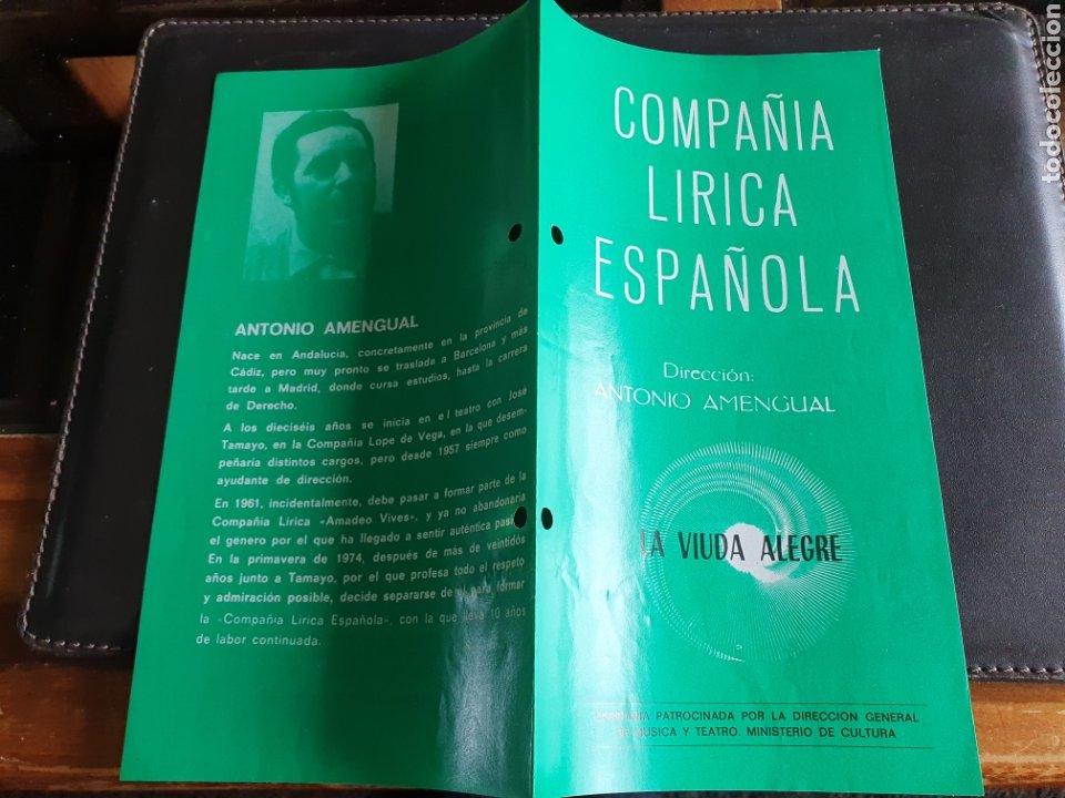 PROGRAMA TEATRO COMPAÑÍA LÍRICA ESPAÑOLA LA VIUDA ALEGRE (Coleccionismo - Laminas, Programas y Otros Documentos)