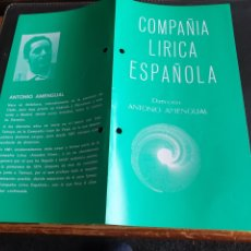 Coleccionismo: PROGRAMA TEATRO COMPAÑÍA LÍRICA ESPAÑOLA LA REVOLTOSA. Lote 288656133