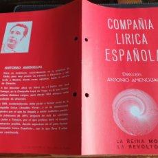 Coleccionismo: PROGRAMA TEATRO COMPAÑÍA LÍRICA ESPAÑOLA LA REINA MORA. Lote 288656333
