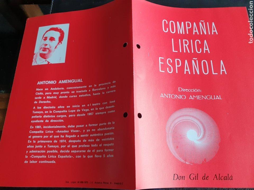 PROGRAMA TEATRO COMPAÑÍA LÍRICA ESPAÑOLA DON GIL DE ALCALA (Coleccionismo - Laminas, Programas y Otros Documentos)