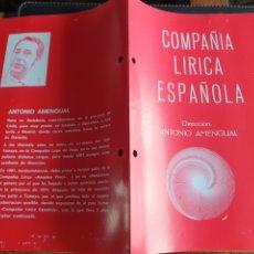 Coleccionismo: PROGRAMA TEATRO COMPAÑÍA LÍRICA ESPAÑOLA EL CANTAR DEL ARRIERO. Lote 288656493