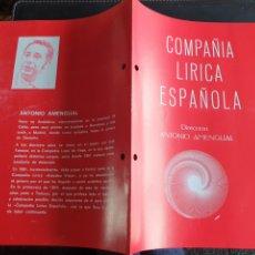 Coleccionismo: PROGRAMA TEATRO COMPAÑÍA LÍRICA ESPAÑOLA DOÑA FRANCISQUITA. Lote 288656538