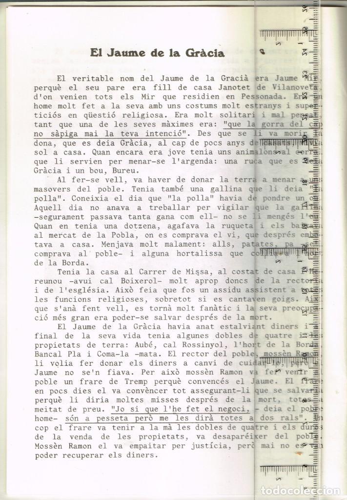 Coleccionismo: 1982 PESSONADA Festa Major - Imatges i Gent d´Abans de la Guerra. Histories Pintoresques Antigues - Foto 5 - 288659048