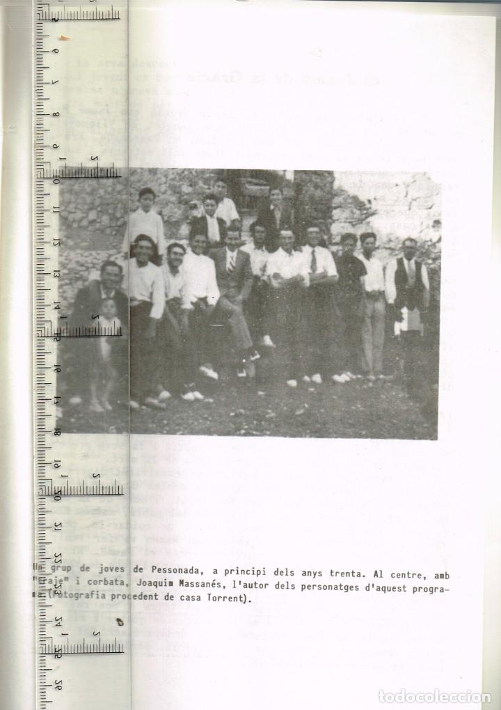 Coleccionismo: 1982 PESSONADA Festa Major - Imatges i Gent d´Abans de la Guerra. Histories Pintoresques Antigues - Foto 6 - 288659048