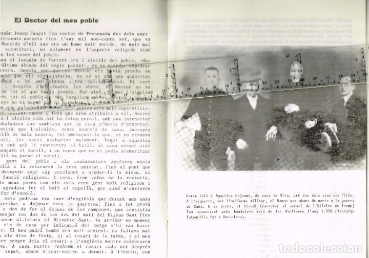 Coleccionismo: 1982 PESSONADA Festa Major - Imatges i Gent d´Abans de la Guerra. Histories Pintoresques Antigues - Foto 8 - 288659048