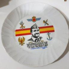 Coleccionismo: ANTIGUO PLATO FRANCO CAUDILLO DE ESPAÑA 1975. Lote 288736798