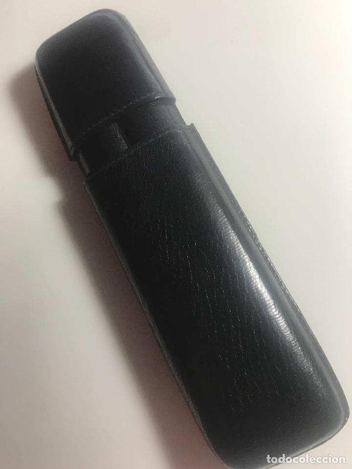 Coleccionismo: Petaca o pitillera para puros en piel color negro años 80 - Foto 3 - 289017378
