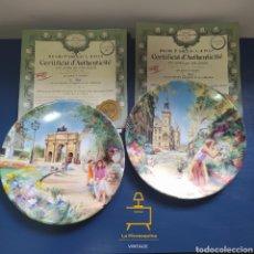 Coleccionismo: PLATOS DECORATIVOS PORCELANA DE LIMOGES. Lote 289220418