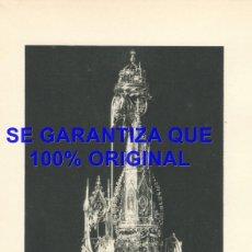 Coleccionismo: BARCELONA CUSTODIA GOTICA DE LA CATEDRAL HUECOGRABADO 240X140 MM E46. Lote 289497738