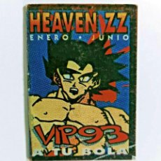 Collezionismo: VIP EXCLUSIVO SON GOKU ORIGINAL DISCOTECA HEAVEN 1993 RUTA DEL BAKALAO. Lote 289502908