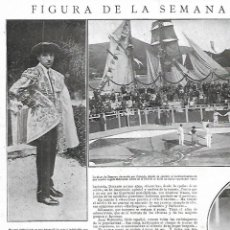 Coleccionismo: AÑO 1924 RECORTE PRENSA TORERO JUAN BELMONTE COGIDA PLAZA ZUMAYA PINTURA RETRATO POR ZULOAGA. Lote 289893043