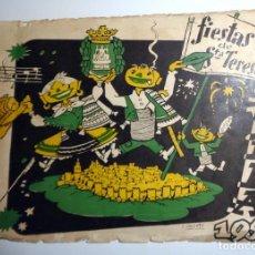 Coleccionismo: PROGRAMA ANTIGUO FIESTAS SANTA TERESA ÁVILA 1958.TEATRO. ANUNCIOS VINTAGE SIGMA NORIT SINGER OSBORNE. Lote 293434123