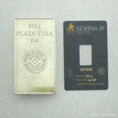 Coleccionismo: LINGOTE PLATA 500 GRAMOS (999). Lote 293757413