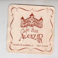 Collezionismo: CAFE BAR ALCAZAR (ALMERIA) - ANTIGUO POSAVASOS - AÑOS 80-90. Lote 294143028